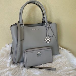Michael Kors large Kimberly satchel & wallet
